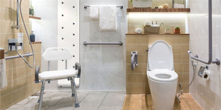 Valiryo adapts as another safety element in an adapted bathroom