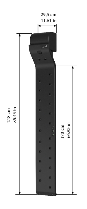 Valiryo body dryer dimensions